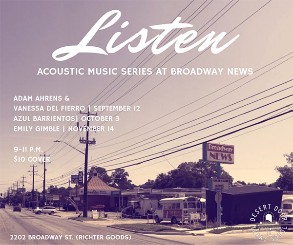 Listen Acoustic Music Series at Broadway News